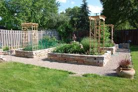 stunning garden landscaping decoration using light brown brick