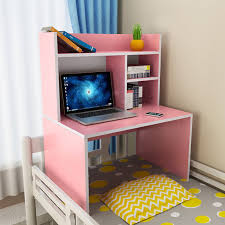 study table for college students students can put the dormitory on the bed of the desk bookcase