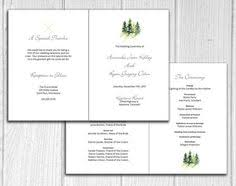 Wedding Bulletin Leaf Folded Wedding Program For Jewish Marriage Ceremony Or