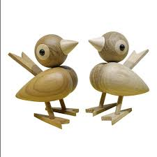denmark nordic style wood sparrow bird ornaments american puppet