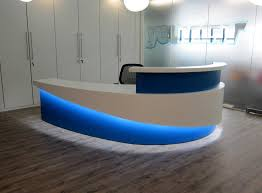 Reception Desk With Display Reception Led Display Sdl Lighting