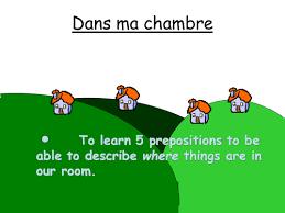 french prepositions dans ma chambre by lydiadavies teaching