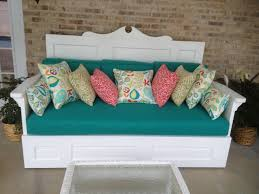 daybed made out of old solid wooden doors designed and created by