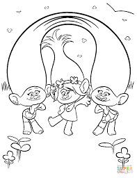 Troll Coloring Pages dreamworks trolls coloring pages free coloring pages