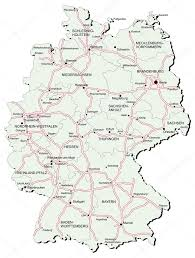 Bamberg Germany Map Germany Autobahn Map U2014 Stock Vector Bussja 3316502