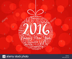 happy new year 2016 word cloud holidays lettering