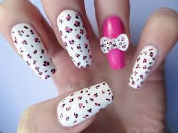 incredible white paint and pink dotted art 3d nail art picsmine