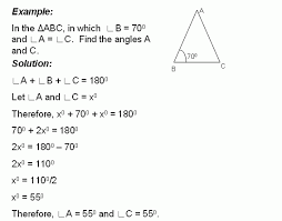 find the angles of triangle middle high algebra geometry