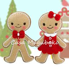 pdf pattern gingerbread ornament felt pattern boy