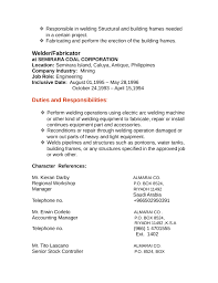 Resume For Welder Job by Fabricator Cover Letters