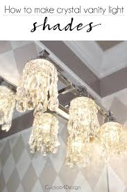 diy bathroom vanity light cover diy crystal vanity light shades cuckoo4design