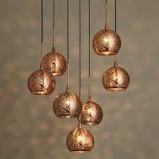 buy john lewis simba dangles cluster ceiling light 7 light