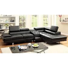 bonded leather sectional sofa kemina black bonded leather sectional shop for affordable home