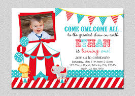 Birthday Invitation Cards For Kids First Birthday Circus Carnival First Birthday Invitation Card Designed By