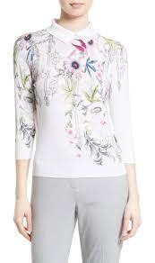 ted baker london kikka passion flower print sweater shopstasy
