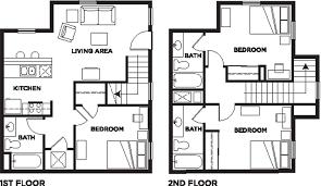 3 bedroom 3 bath floor plans 3 bed 3 bath attached bath camino sol student housing