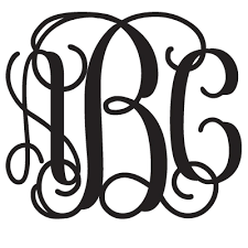 monogram stickers monogram decal combo 3 pack mix and match sizes colors and letters