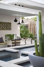 a contemporary pool cabana for this texas home garden