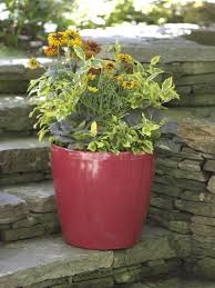large flower pots plastic rolling viva self watering planters