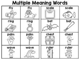 multiple meaning words in both color and black white great