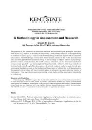 convention bureau d ude technique q methodology in assessment and research pdf available
