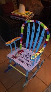 Childrens Rocking Chairs Personalized Childs Rocking Chair Custom Painted Dr Suess Diy Home Decor