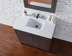 Silver Bathroom Sink Abstron 36 Inch Silver Oak Finish Single Sink Bathroom Vanity
