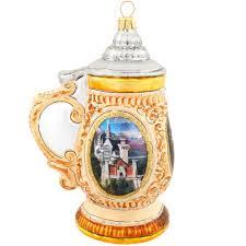 stein with neuschwanstein castle glass ornament ethnic