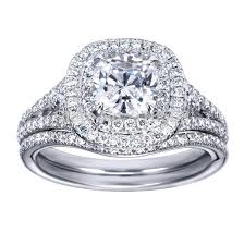 simulated engagement ring classic simple 2 carat simulated wedding set