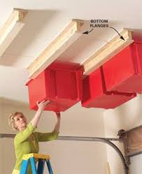 Christmas Light Storage Ideas Create A Sliding Storage System On The Garage Ceiling Ceiling