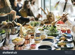 food buffet catering dining eating party stock photo 384096724