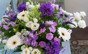 types of flower arrangements mixed flower bouquet in shades of purple and violet cloverhome