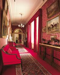 the horse corridor at clarence house and it u0027s pink