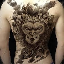 manzilin 1pc sun wukong pattern back