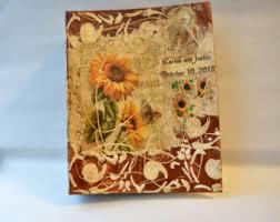 Rustic Wedding Albums Custom Wedding Album Etsy