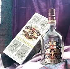 empty chivas regal 1l bottle in box blended scotch whisky 12 years