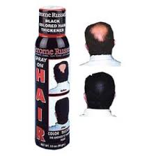 hair in a can it u0027s basically spray paint for your bald spot
