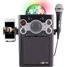 karaoke machine with disco lights ising disco ball karaoke walmart com