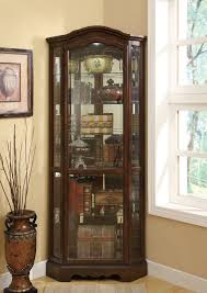 tall cabinet with glass doors curio cabinet oak corner curio cabinets with glass doors cabinet