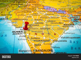 Mumbai Map Red Thumbtack In A Map Pushpin Pointing At Mumbai Stock Photo