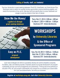 grant workshops university libraries and osp offer an edge