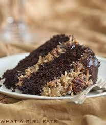chocolate cake with coconut pecan frosting