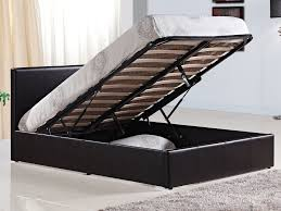 king size bed frame with storage uk storage decorations