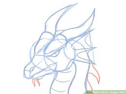 draw dragon head pictures wikihow
