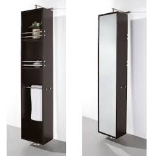 rotating storage cabinet with mirror claire rotating wall cabinet with mirror espresso jack and jill