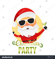 christmas cocktail party clipart christmas party santa claus cartoon character stock vector