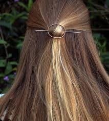 hair barrettes hammered oval hair barrette stick women s accessories