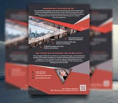 red flyer template tri fold brochure print design abstract