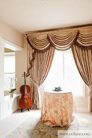Swag Valances For Windows Designs Baroque Floral Swag Valance Window Treatment Traditional Window