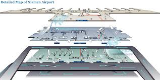 Hong Kong Airport Floor Plan by Xiamen Gaoqi International Airport Map Xiamen Flights U0026 Airlines